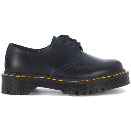 Chaussures Femme Derbies Dr Martens Chaussures lacées  Bex 1461 trois troux en peau noire Noir