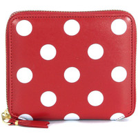 Sacs Femme Porte-monnaie Comme Des Garcons Portefeuille  en cuir rouge pointillé en blanc Rouge