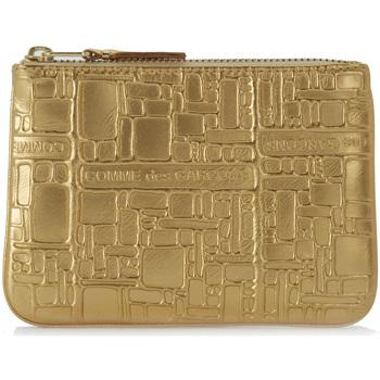 Sacs Portefeuilles Comme Des Garcons Pochette Wallet Comme des Garçons en cuir or imprimée Or