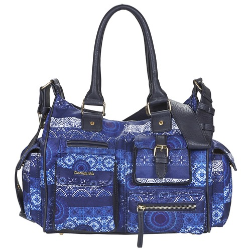 Sacs Femme Sacs porté épaule Desigual LONDON MEDIUM BARBADOS Bleu