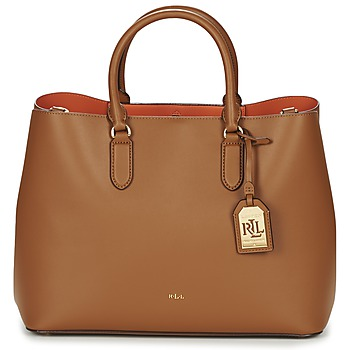 Sacs Femme Cabas / Sacs shopping Ralph Lauren DRYDEN MARCY TOTE Marron / Orange