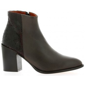 Chaussures Femme Bottines Elizabeth Stuart Boots cuir python Marron