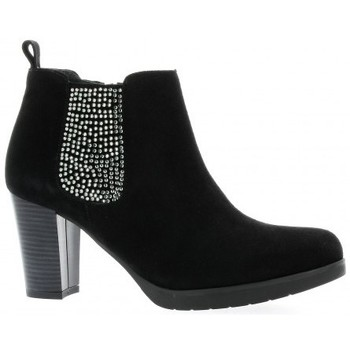 Chaussures Femme Bottines Reqin's Boots cuir velours Noir