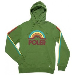 Sweats Poler Sweat A Capuche  Mountain Rainbow Hoodie Grass