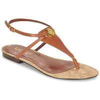 Chaussures Femme Sandales et Nu-pieds Ralph Lauren ANITA-SANDALS-CASUAL Marron