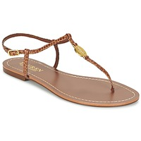 Chaussures Femme Tongs Ralph Lauren AIMON-SANDALS-CASUAL Camel