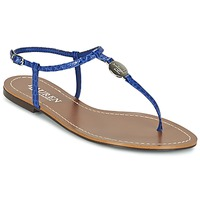 Chaussures Femme Tongs Ralph Lauren AIMON-SANDALS-CASUAL Bleu