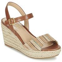 Chaussures Femme Sandales et Nu-pieds Ralph Lauren KEARA-ESPADRILLES-CASUAL Marron / Beige