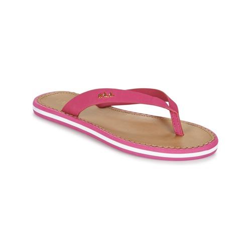 Chaussures Femme Tongs Ralph Lauren RYANNE-SANDALS-CASUAL Rose