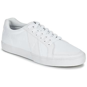 Chaussures Homme Baskets basses Ralph Lauren HUGH Blanc