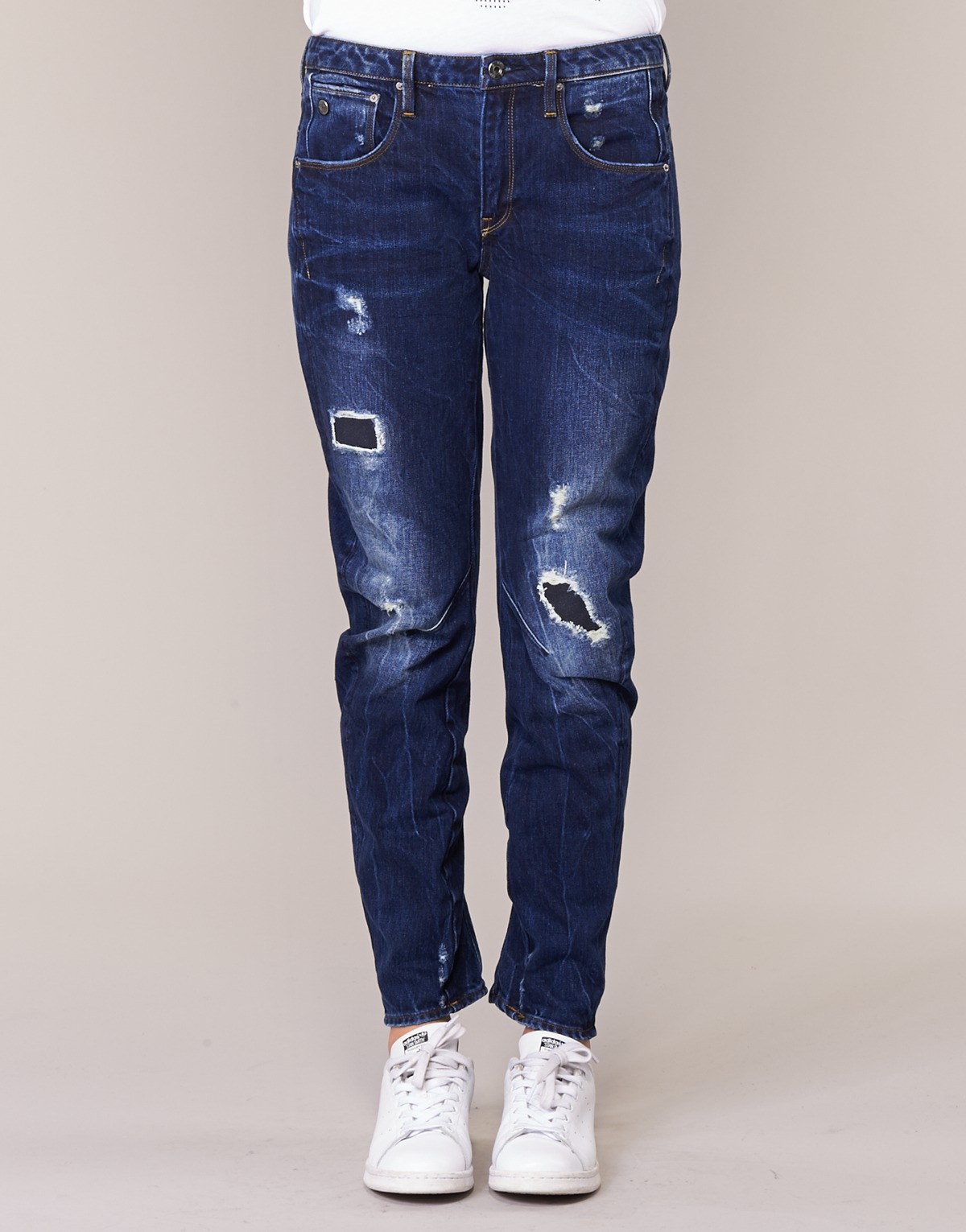 G-star Raw Arc 3d Low Boyfriend Bleu Brut - Livraison Gratuite Vêtements Jeans Femme 112,50 €