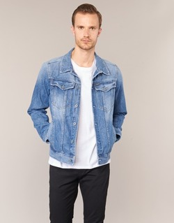 Vêtements Homme Vestes en jean G-Star Raw 3301 DECONSTRUCTED 3D SLIM Bleu