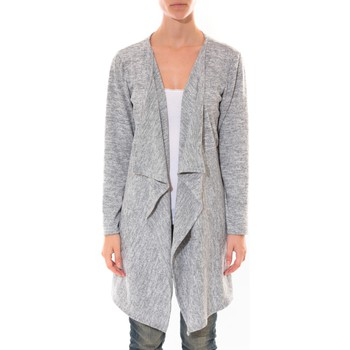 Gilet Barcelona moda cardigan long fashion moda gris