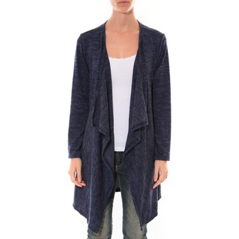Vêtements Femme Gilets / Cardigans Barcelona Moda Cardigan Long Fashion Moda Bleu Bleu