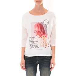 T-shirts manches longues Coquelicot Tee shirt   Blanc 16425