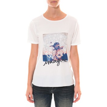 T-shirts manches courtes Coquelicot Tee shirt   Blanc 16426
