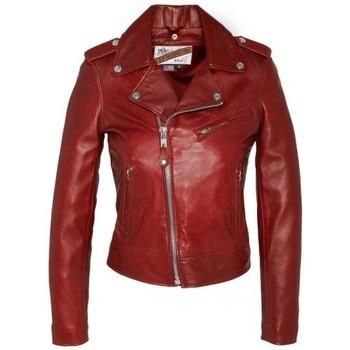 Vêtements Femme Vestes en cuir / synthétiques Schott BLOUSON PERFECTO  Rouge Rouge