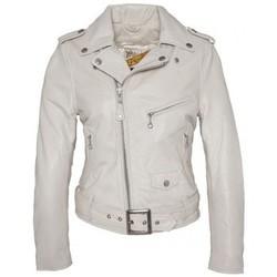 Vêtements Femme Vestes en cuir / synthétiques Schott PERFECTO FEMME  OFF WHITE Blanc