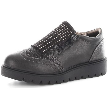 Chaussures Fille Baskets basses Asso 50510 Ballerines et Mocassins Fille Nero-silver Nero-silver