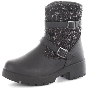 Chaussures Fille Baskets basses Asso 50311 Bottes et bottines Fille Black Black