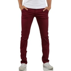 Vêtements Homme Chinos / Carrots Rerock Pantalon chino homme Chino 3334 rouge bordeaux Rouge