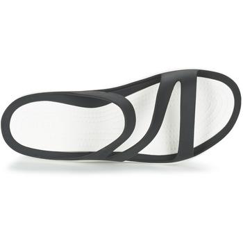 Crocs SWIFTWATER SANDAL W Noir / Blanc hPyU7mp