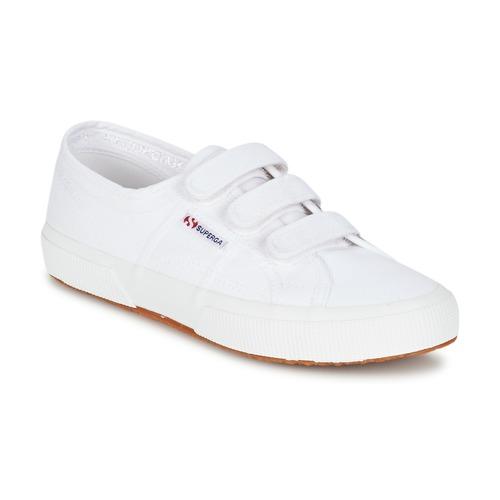 Superga 2750 COT3 VEL U Blanc  - Chaussures Baskets basses