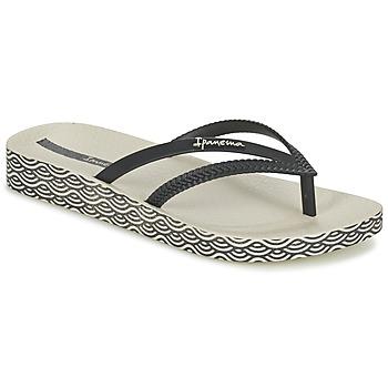 Chaussures Femme Tongs Ipanema BOSSA SOFT Noir / Beige