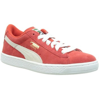 Chaussures Femme Baskets basses Puma suede classic + f rouge