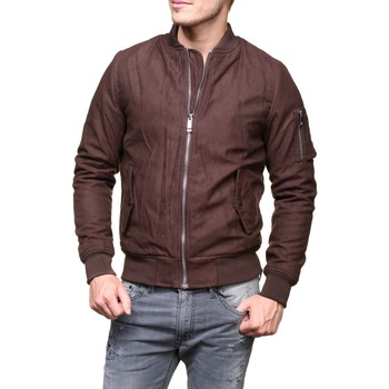 Blousons Gov Denim 1650 Bombers Marron