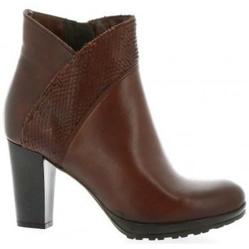 Chaussures Femme Bottines Pao Boots cuir Cognac