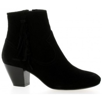 Chaussures Femme Boots Giancarlo Boots cuir velours Noir