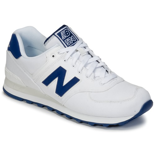Chaussures Baskets basses New Balance ML574 Blanc / Bleu