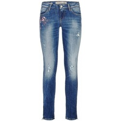Vêtements Femme Jeans slim Guess Jean  Marylin 3 zip Bleu Bleu