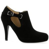Chaussures Femme Low boots Vidi Studio Low boots cuir velours Noir