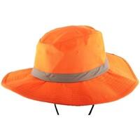 Accessoires textile Homme Chapeaux Nyls Création Bob Safari Orange Fluo bande réfléchissante Orange