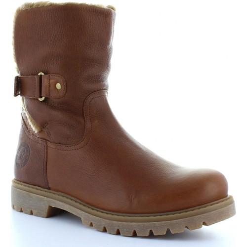 Chaussures Femme Bottines Panama Jack FELIA B8 Marrón