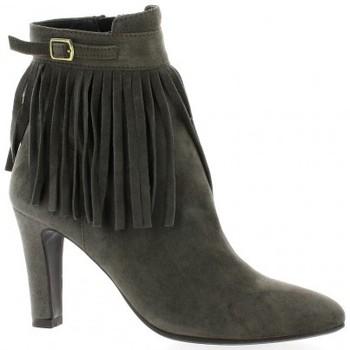 Chaussures Femme Bottines Vidi Studio Boots cuir velours Gris
