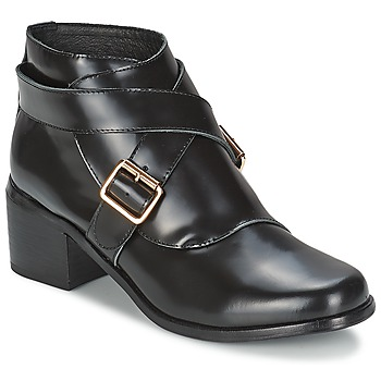 Chaussures Femme Bottines F-Troupe Double Buckle Boot BLACK