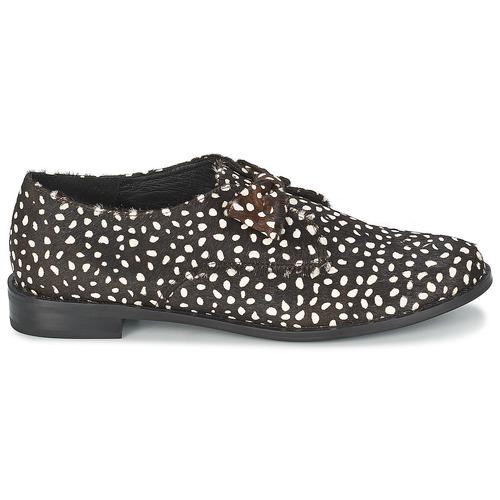 Chaussures Black Femme white Polka Bow F troupe Derbies CdQrtsh
