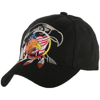 Accessoires textile Garçon Casquettes Nyls Création Casquette Baseball Biker Aigle USA Noir