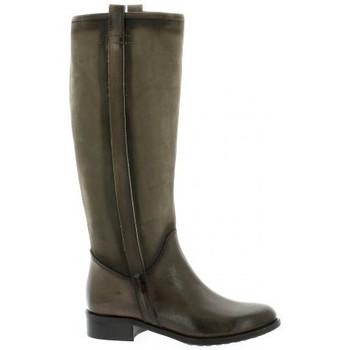 Chaussures Femme Bottes ville Donna Più Bottes cuir nubuck Taupe