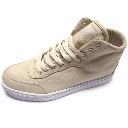 Alife Sneakers Homme  Everybody High Quilt Canvas Beige Beige - Chaussures Basket montante Homme