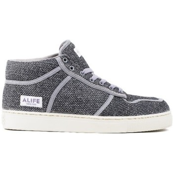Chaussures Homme Baskets montantes Alife Everybody Mid Tweed Black Noir