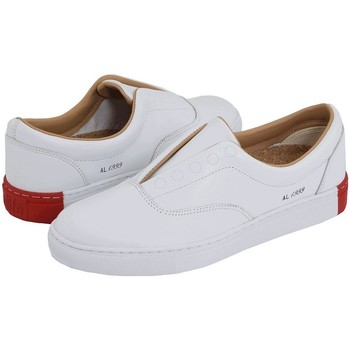 Chaussures Homme Baskets montantes Alife Public Naval Leather White Blanc