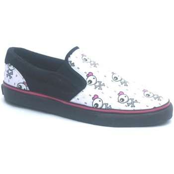 Chaussures Garçon Slips on Osiris Scoop Girls Kids Black/Becky Bones Noir