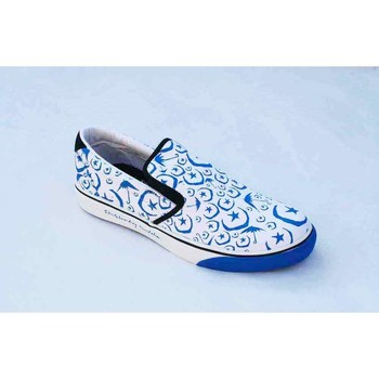 Chaussures Homme Slips on Osiris Scoop White Blue Foundation Blanc
