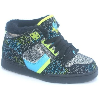 Chaussures Garçon Baskets montantes Osiris South Bronx Girl Black/Blue/Fluff Noir