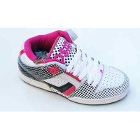 Chaussures Femme Baskets montantes Osiris South Bronx White Black Faded Blanc