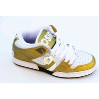 Chaussures Femme Baskets montantes Osiris South Bronx White Gold Blanc